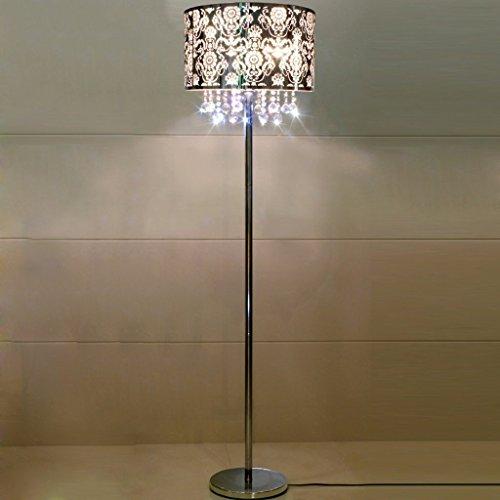 Edge to Stehlampe Moderne Einfache Kristall Anhänger Wohnzimmer Stehlampe Edelstahl Schlafzimmer Studie Tuch Beleuchtung Lampe (Farbe : B) -
