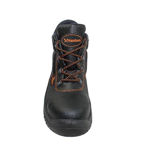 Princetown classic berufsschuhe businessschuhe chaussures de sécurité s1 chaussures de trekking (noir) Noir - Noir