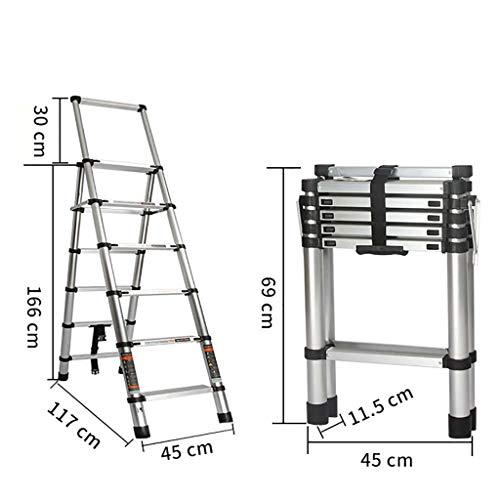 Aluminium-legierung Zusammenlegbar Leiter,multi-purpose Treppenleiter Teleskop Leiter Anti-rutsch Portable Erweiterung Leiter Für Zuhause Küche Warehouse-a6 (Portable Storage-schuppen)