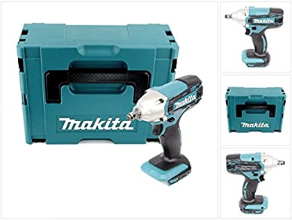 Makita DTW 190ZJ 18V atornillador de impacto (batería de ion de litio solo en Makpac–sin accesorios, sin batería, sin cargador