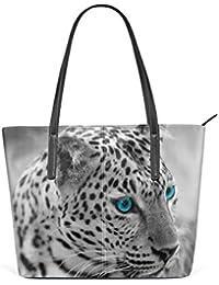 Della Elaborazione Borse Coosun Jaguar Donne… E Bianco Di A Per Borsa Le Bag Dell'unità Nero Tracolla Cuoio Tote BwCP1wq0