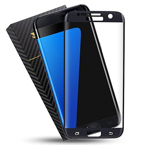 Duractron Protector de Pantalla para Samsung Galaxy S7 Edge, Vidrio Templado, color negro