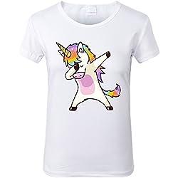 Lovelyed Camiseta - para Mujer Unicornio Rosa Large