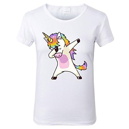 Lovelyed Camiseta - para mujer Unicornio Rosa X-Large
