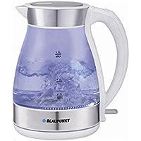 Blaupunkt EKG501WH Hervidor de Agua Eléctrico, 1.7 Litros, Cristal con Luz Interior, Libre de BPA, 2200W
