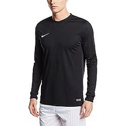 Nike LS Park VI Jsy - T-shirt à manches longues pour hommes, noir / blanc, taille M