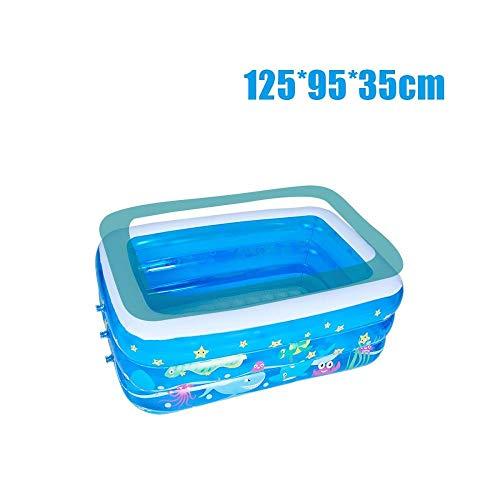 Treslin Aufblasbarer Swimmingpool, Familienkinder, Baby, großes Wasser, rechteckiger Spaß, aufblasbarer Pool, A -