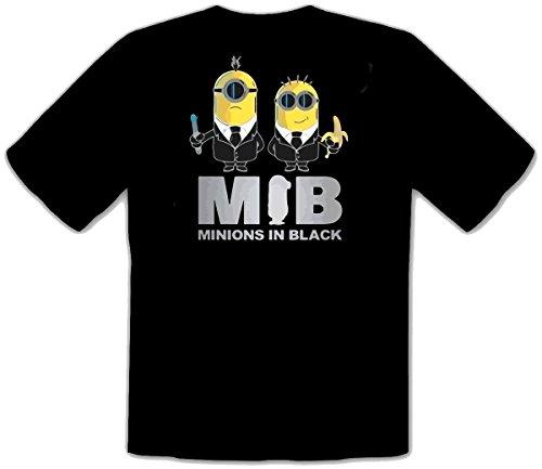 Minions In Black banana einfach unverbesserlich schwarze fun T-Shirt -047 (XXL)