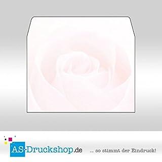 Briefumschlag Blumen - Rose / DIN C6 / 25 Stück