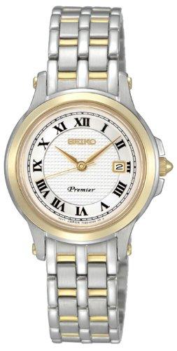 Seiko Damen-Armbanduhr XS Metallband Damen Analog Quarz Edelstahl beschichtet SXDE02P1