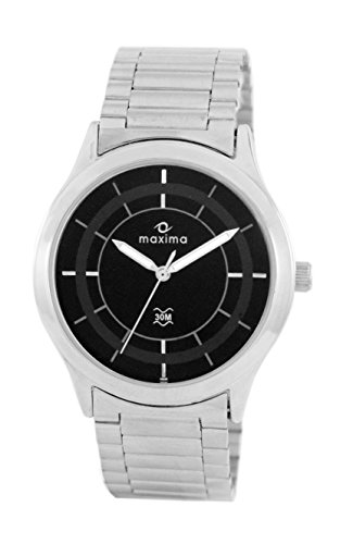 Maxima Analog Black Dial Men's Watch - 36595CMGI