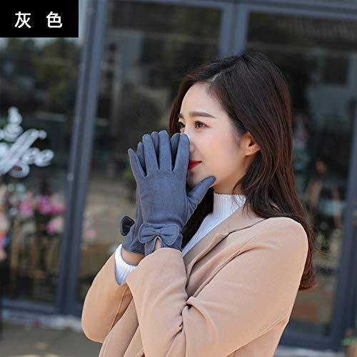 41oRMV0GuFL. SS500  - Q_STZP Gloves glove mitten Gloves female winter cute Korean students Japanese warm and velvet thickening riding five fingers windproof touch screen gloves