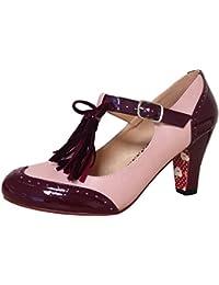 Dancing Days Damen Schuhe Loves That Riemchen T-Strap Pumps Geschlossen 4bd20e8744