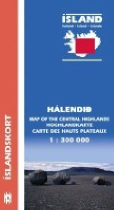 Island 1 : 300 000. Hochlandkarte - Halendid