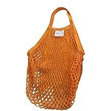 Mengonee Cotton Outdoor Reusable Fruit Net Pocket Handbag Large Capacity Shopping Portable Net Bag