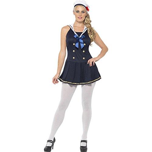 Sexy Seemanns-Kostüm in Blau für Damen Einheitsgröße (Erwachsene Blau Seemann Kostüme)