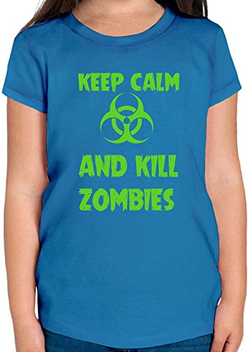 Keep Calm And Kill Zombies T-shirt per ragazze 12+ yrs