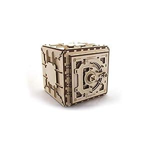 UGEARS Caja de seguridad - Mecánico 3D Rompecabezas de Madera - Kit de Construcción Sin Pegamento