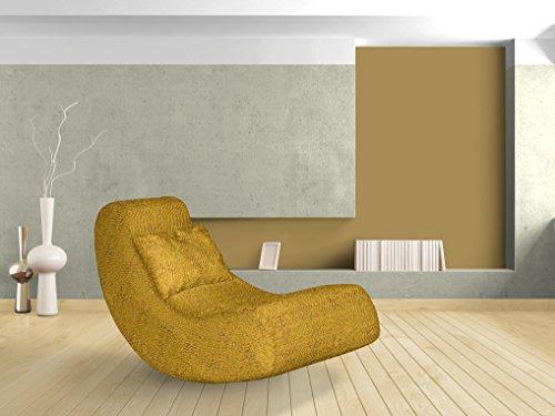 Relaxsessel, Melange, gelb