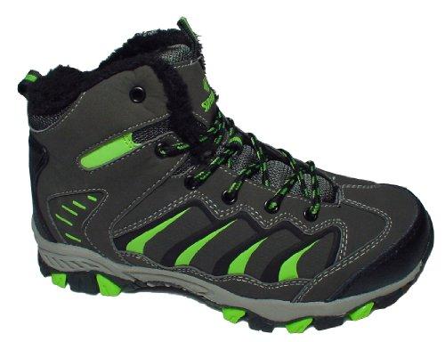 Gibra ® chaussures de randonnée pour homme-doublure chaude anthracite/vert fluo taille 41–46 pied Noir - Anthrazit/Neongrün
