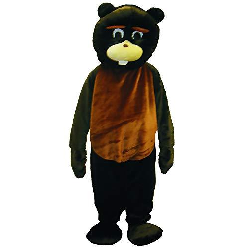 Kostüm Biber Schwanz - Dress Up America Biber Maskottchen Kostüm Set