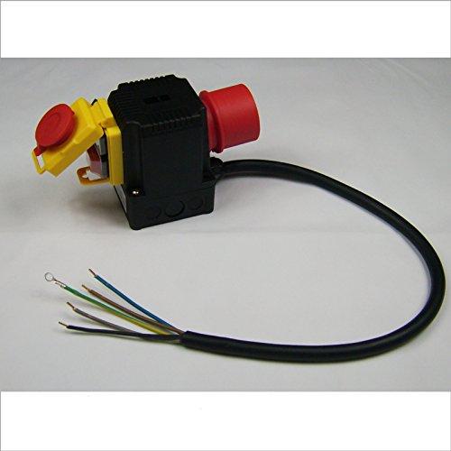 BUZE Orginal KEDU KOA 12 Schalter 400V mit Notaus für Motor-Wippkreissäge 1845-02001, Motorschutz & Motorbremse, Unterspannungsauslöser und Phasenwender