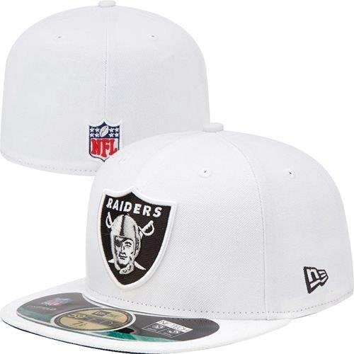 New Era - Casquette Fitted Homme Oakland Raiders 59Fifty On Field - White - Taille 7 1/4