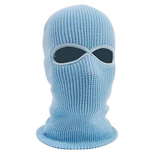Qfyd fdeyl passamontagna con scaldacollo flessibile,vento e sci tattiche-blue_2 buche,passamontagna antivento e traspirante inverno caldo