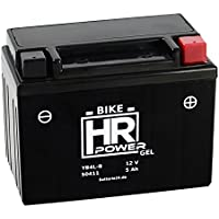 Gel Rollerbatterie Starterbatterie 12V 5Ah YB4L-B 50411 wartungsfrei SLA4L-BS FB4L-B GM4-3B 6I2P CB4L-B GB4L-B YT4L-B