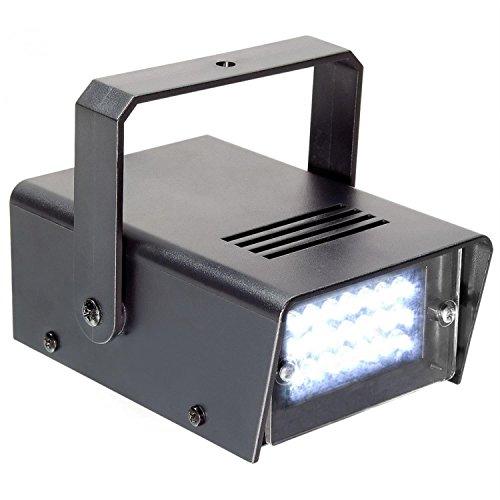 Stroboskop Licht Mini (beamZ Mini Stroboskop | Effektstrahler Effektlicht Discolicht | 24 x weiße LEDs | 10W Leistung | Automatik-Modus | einstellbare Blitzgeschwindigkeit | inkl.)