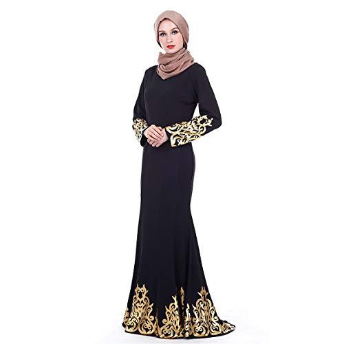 Amlaiworld ❤ Damen-Arabische Robe, Sommermode Palastart brüniert neues moslemisches Kleid ()