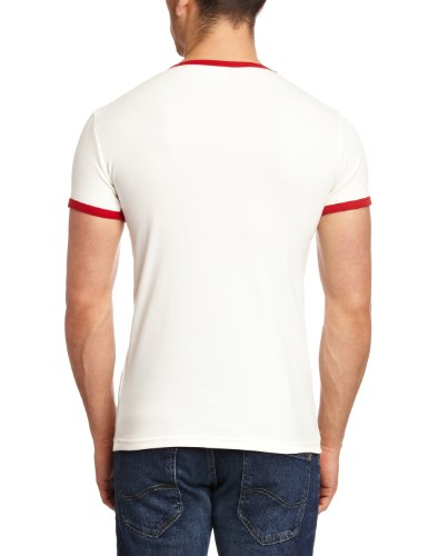 Logoshirt T-shirt  Logo Col rond Mixte adulte Multicolore - Almost White/True Red