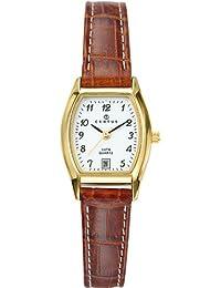 Certus  646501 - Reloj de cuarzo para mujer, con correa de cuero, color marrón