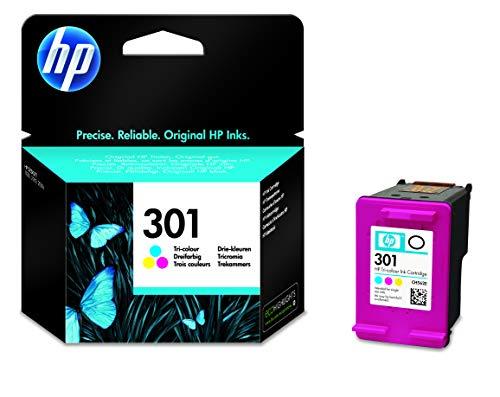 HP 301 Cyan/Magenta/Gelb Original Druckerpatrone für HP Deskjet 1000, 1010, 3000, 1050, 1050A, 1510, 2050, 2050A, 2510, 2540, 3050, 3050A, 3055A, HP Officejet 2620, 4630, HP ENVY 4500, 4504, 5530