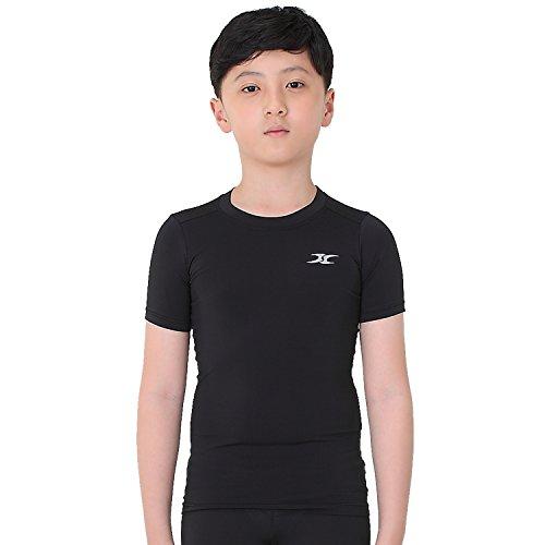 hirt Unterwäsche Jungen Youth unter Base Layer Short Sleeve Top SK Gr. Large, schwarz ()