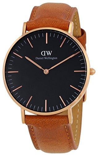 Daniel Wellington Classic Damen-Armbanduhr Analog Quarz Leder - DW00100138
