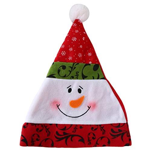 Arbeit Für Gruppe Lustige Kostüm - Weiy Neuheits-Weihnachtshut-lustige Sankt-Elch-Schneemann-Weihnachtskappen-Weihnachtsfest-Hüte für Weihnachtskostüm-Partei, Schneemann
