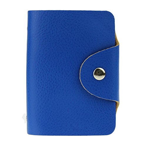 Liying Kreditkartenetui Kartenmappe Kartenetui Geldbeutel Karten Tasche Karten Mappe Kartenhalter Mit 26 Kartenfächer Leder Rot Blau