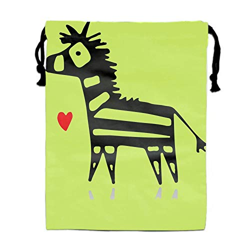 Einst Zebra Sketch Turnbeutel Rucksack Bags Goody Bags Party Favor Bags Supplies for Boys and Girls