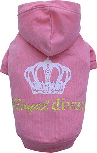 Dive Kapuzen-jacke (Doggy Dolly W231 Kapuzenshirt für Hunde Roayl Divas, rosa, Größe : M)