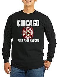 CafePress - Chicago Fire Department Long Sleeve Dark T-Shirt - Unisex Cotton Long Sleeve T-Shirt
