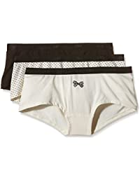 Dim Pockets Coton X3, Bóxer para Mujer (Pack de 3)