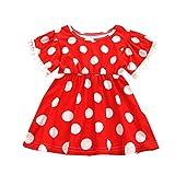 ♣ Tianya - Fancy Quaste Dot Rock Princess Dress Lässige Kleidung Tägliches Tragen Kleinkind Kinder Baby Mädchen
