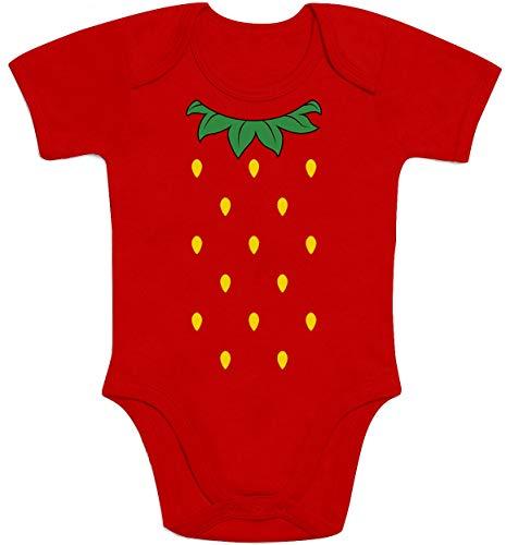 Kostüm Süße Erdbeer - Shirtgeil Süße Kostüm Idee für Baby kleine Erdbeere Baby Body Kurzarm-Body 86/92 (12-18M) Rot