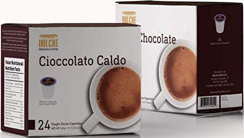 Dolché Heiße Schokolade, American Kapseln kompatibel Keurig K-cup 2.0, Box 96 Kapseln (4x24)