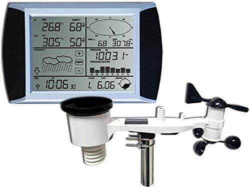 Froggit WH1080 SE Profi Funk Wetterstation Solar Touchscreen USB (Neuer Außenmast)