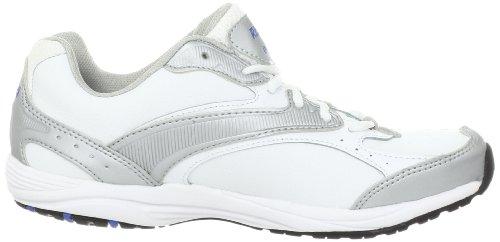 Ryka Dash Large Cuir Chaussure de Marche Grey-White-Medium Blue