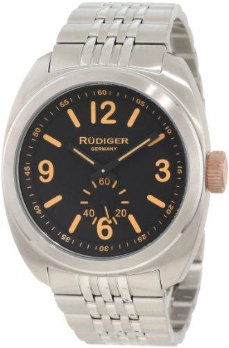 Rudiger Men's R5001-04-007.13 Siegen Two-tone Stainless Steel Bracelet Black Dial Watch