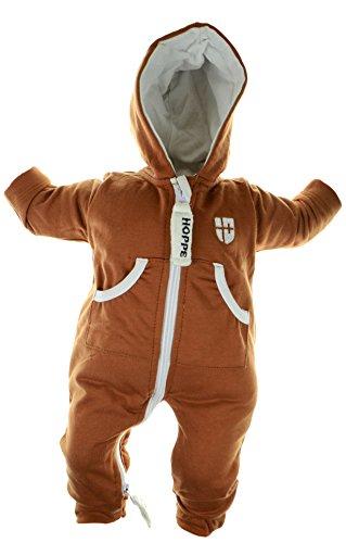 Gennadi Hoppe Baby Jumpsuit - Overall , camel , 12-18 (Camel Strampler)