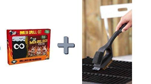 BBQ Grill-Ofen Grill Küche Metalldraht-Reinigungsbürste Scraper Remover Reiniger + Schaun das Schaf Grillset